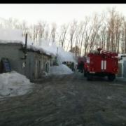 В центре Омска сгорел торговый павильон