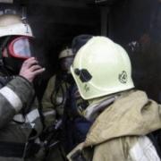 Огнеборцы спасли семью на пожаре в девятиэтажном доме