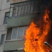 В Омске одновременно горели два жилых дома